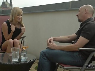 DADDY4K. Smoking-exciting blondie cheats on boyfriend with...