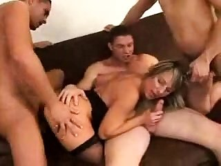 Bisexual hardcore hard group fuck and blowjob orgy