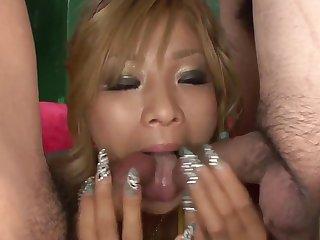 Blonde Rina Umemiya Japanese porn in extreme scenes