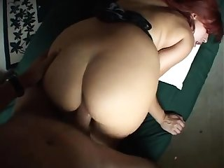Horny redhead mature gives a great pov handjob