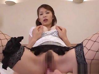 Asian wife Saki Ootsuka sucks and fucks part2