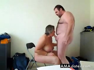 housegirl makes a good blowjob and gets fucked from behind