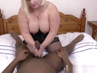 Busty Granny Pleasuring Black Guy