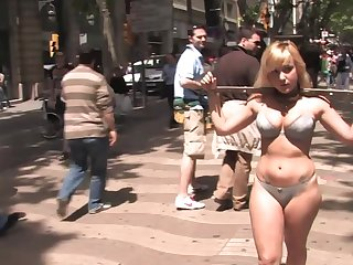 Public torture and humiliation for helpless slave Yillie Fresh