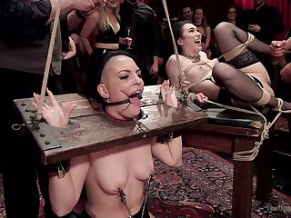 Doms subject Rachael Madori and Aria Alexander to daunting BDSM tactics