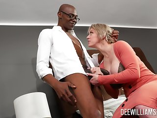 Black dude with a long cock fucked curvy blonde Dee Williams