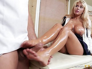 Kayla Kayden comes to get a massage but gets her pussy drilled