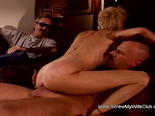Amused Husband Watches Wifey Swing A Deep Moment Session