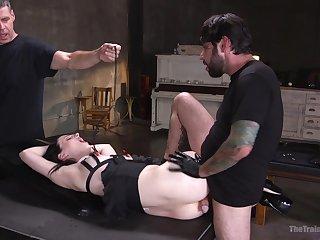 Submissive Alex Harper submits to arousing bondage fuck