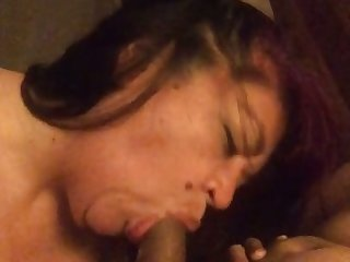 This chubby hooker is one talented cocksucker and she gives a great BJ