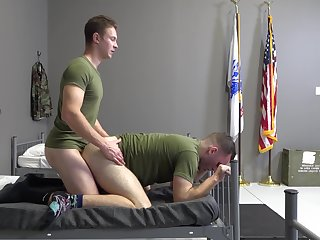 Gay servicemen Elijah Canon and Mark McKenzie's hot hookup