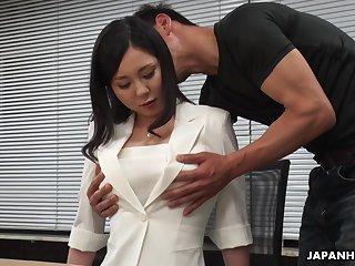 Horny interview for job ends up with steamy missionary fuck with Miyuki Ojima