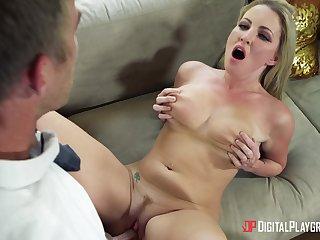Alluring blonde MILF in sensational scenes of merciless sex