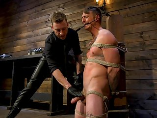 Riveting gay bondage session with Sebastian Keys and Dane Stewart