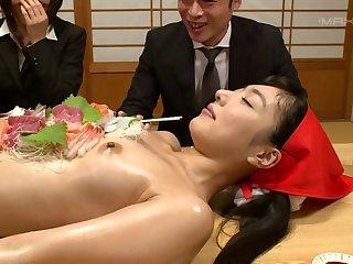 Japanese slut Kana Yume with a hot ass, enjoys having a gangbang