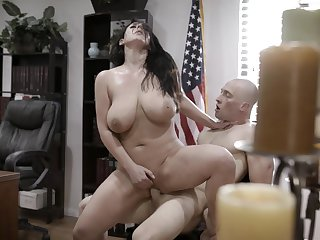 Big titted MILF secretary gets naughty and fucks her boss