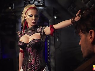 Dominant mistress wants the cock in both her wet holes