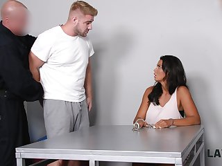 Brutal guy fucks super juggy babe Chloe Lamour in front of her cuckold boyfriend