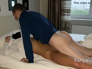 Pretty brunette, Katty West is sleeping while Oliver Strelly is fucking her perfectly shaved pussy