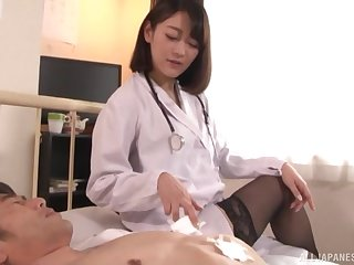 Nishino Shou wears stockings and goes all out on a lucky guy's dong