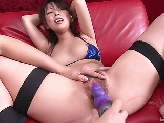 Amateur video of tied up Japanese babe Asuka getting pleasured