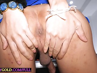 Big boobs ladyboy Lanta POV blowjob before anal doggystyle fucking