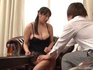 Naughty Haruna Hana loves rubbing her pussy in front of a friend