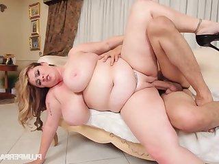 Chunky slut Kimmie Kaboom crazy extremely hot porn clip
