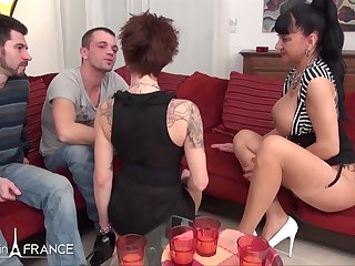 2 thirsty large jugged mature mega-bitch found 2 bastards to get stiff pounded and nutted