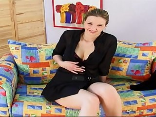Hefty funbags ash-blonde teenage with a fuck stick on movie