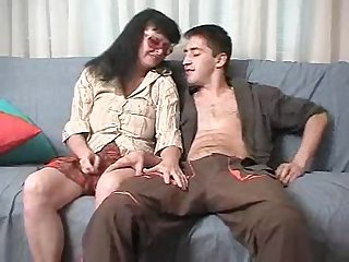Cute mature brunette in glasses doggystyle pounded hardcore