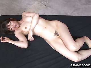 After some Asian bondage lusty whore Shiori Natsumi sucks strong cocks