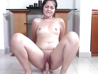 Chubby Teen with Pretty Clamshell Clit Squat Fucks Your Cock