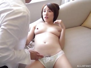 Cute Asian gets fucked by hard friend's penis while she moans