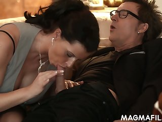 Kinky dude Conny Dachs and his friend fuck mature German floozy